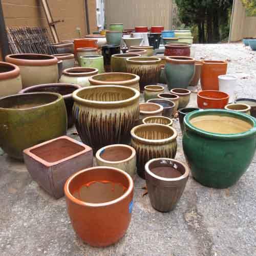 pottery, planters, outdoor, garden art