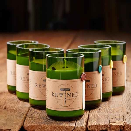 rewined candles, rewined candles atlanta, recycled candles atlanta, upcycled gifts atlanta, green gifts, soy candles,