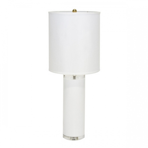 white lacquer acrylic lamp