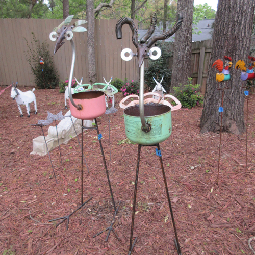 garden art atlanta, outdoor art altanta, planters atlanta, garden decorations atlanta
