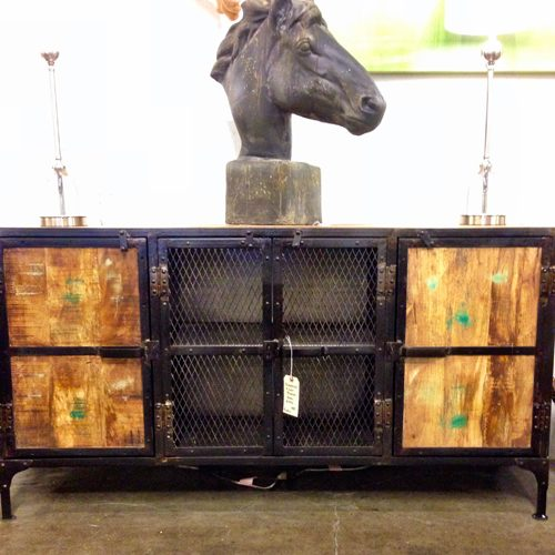 industrial, industrial atlanta. industrial sideboard, industrial furniture, industrial and glass