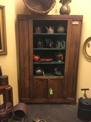 pine, vintage, antique, corner cabinet, cabinet