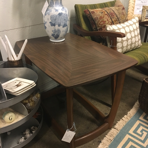 midcentury, end tables. dark wood end table s