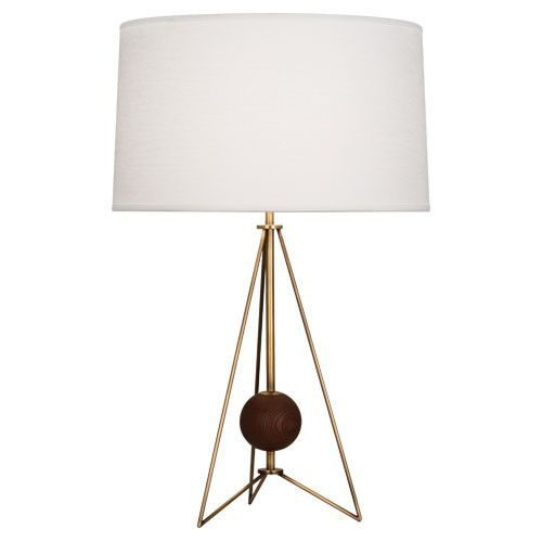 johnathan adler, adler, gold and wood lamp