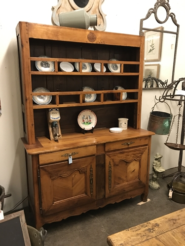 french antique, french cupboard, hutch, french hutch